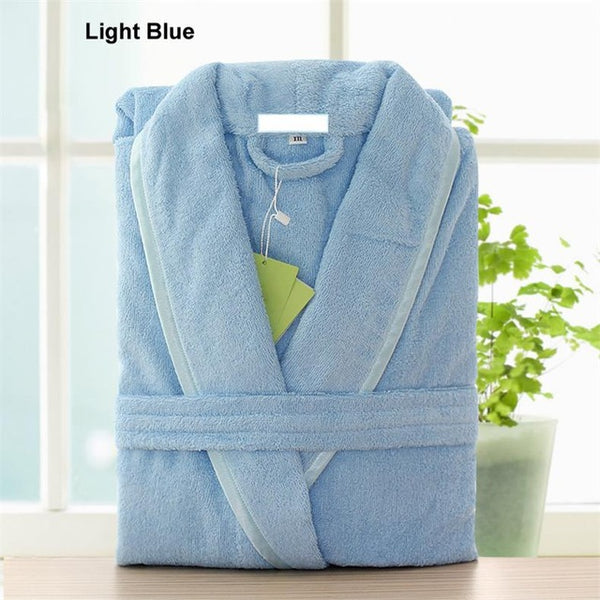 Robe Male Cotton Terry Bathrobe Men Couples Pajamas Towel Sleepwear Ki