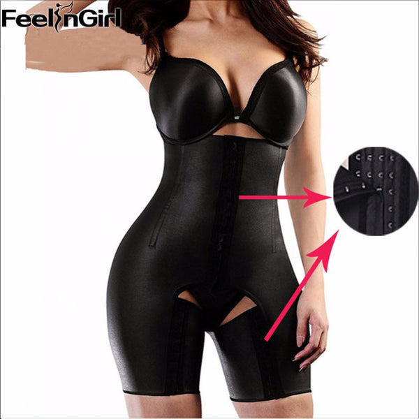6bdd81fd4 Plus Size XS-5XL 4 Steel Bones Latex Waist Trainer Hot Body Shapers Wa