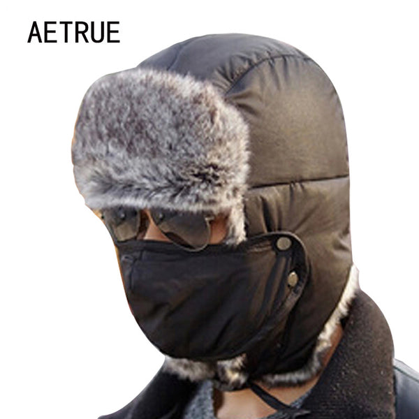 Winter Bomber Hats Men Women Fur Thickened Ear Flaps Winter Hat Earfla c7dc3ba3295