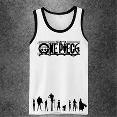 One Piece Anime Workout tank top men women brand fitness bodybuilding Crossfit Singlets Muscle 3d Printed men casual Tanks Top