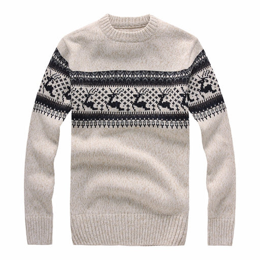 New 2017 Autumn Winter Fashion Brand Clothing Men s Sweaters with Deer Slim  Fit Men Pullover Knitted 74a88f8fa