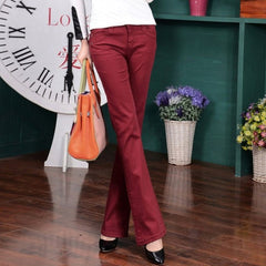 2017 autumn new candy color Women Jeans Long stretch Slim Fit jeans straight lager Size Sexy Fashion Casual Lady trousers Z2401