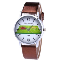 Luxury Fashion Soccer football match Printing Watch The Best Gift  Sports Thin Dial Clock For Male Quartz Wrist Watches