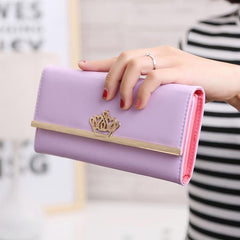 2016 Women Wallets Women Clutch Imperial Crown Long Purse Wallet carteras mujer Card Holder Handbag Bag sacoche homme #25