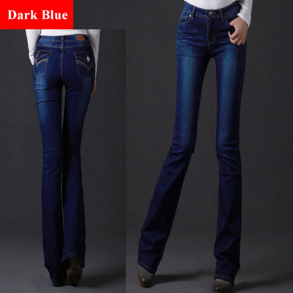 15e045a6d2e6 ... Extra Long Flare Length Capris Jeans For Tall Women 102Cm Super Long  Harem Jean Over Length ...