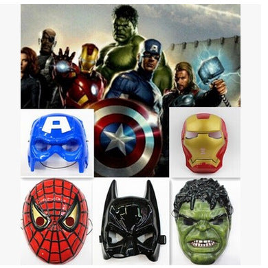 Superhero Halloween Mask for Kid & Adult Avengers Marvel Captain America Spiderman Hulk Iron Man Batman Star Wars  Mask