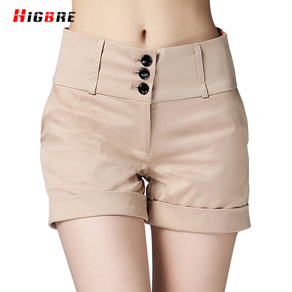 New High Quality 2017 Big Size Women Shorts Summer Size Casual Elegant Slim Fit OL Shorts Work Wear Female Cotton Shorts Ladies