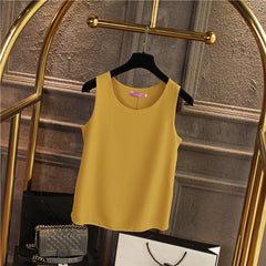 New Arrival Womens Tanks Tops 2017 Women Summer Chiffon Blouse Plus Size S-4XL Sleeveless Casual Vest Shirt Black White Red Pink