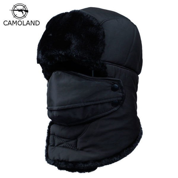 66b517895 Winter Warm Earflap Bomber Hats Caps Scarf Men Women Russian Trapper Hat  Aviator Trooper Earflap Snow Ski Hat Cap with Fack Mask