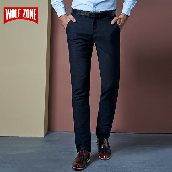 New Arrival Brand Business Casual Pants Men Formal Fit Mid Dress Suit