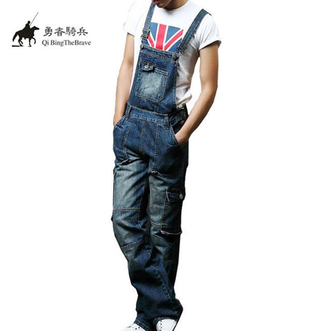 25cf370a87834 ... Jeans Cotton Pants.  82.65. 2017 Plus Size S-8XL Mens blue Denim  Jumpsuits Fashion Bib Overalls with Pockets for