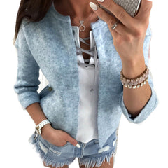 Autumn Women Jacket Long Sleeve Cardigan Loose Casual Tops Women's Clothes WS1359U