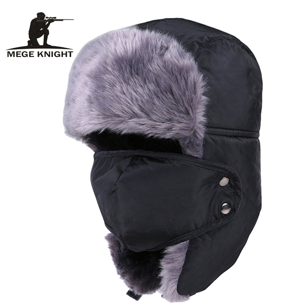2014 Russian Bomber Hats Warm Winter Men and Women Unisex Earmuffs Cap With Mask Thick CamoCap Ear Riding