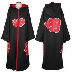 Halloween Coustume Hot Selling Naruto Cosplay Costume Naruto Akatsuki Uchiha Itachi Cosplay Cloak Hooded Plus Size (S-2XL) WA305