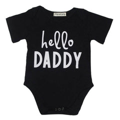 2017 Newborn Baby Romper Letter Prints O-neck Short Sleeve baby unisex Rompers Jumpsuit Casual Outdoor wear Outfit one size