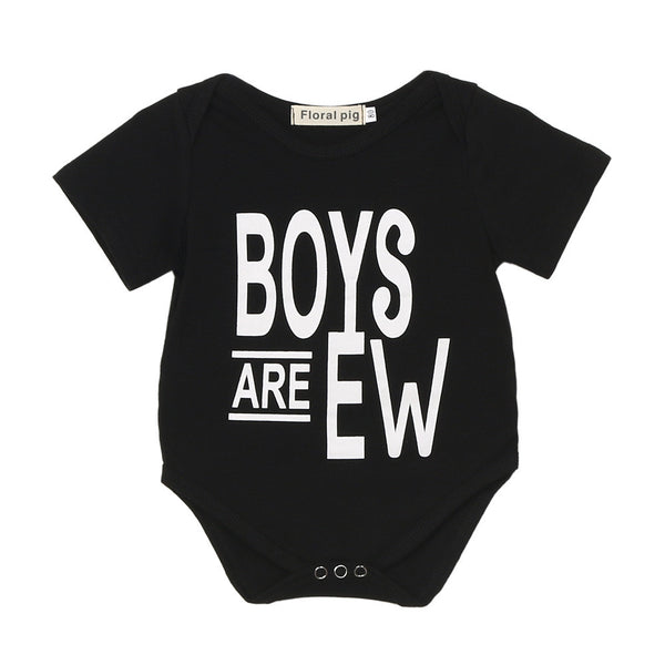 2017 New Arrival Summer Baby Rompers Clothes Newborn Baby Boy Girls Rompers Short Sleeve Letter Print Baby Clothing Romper