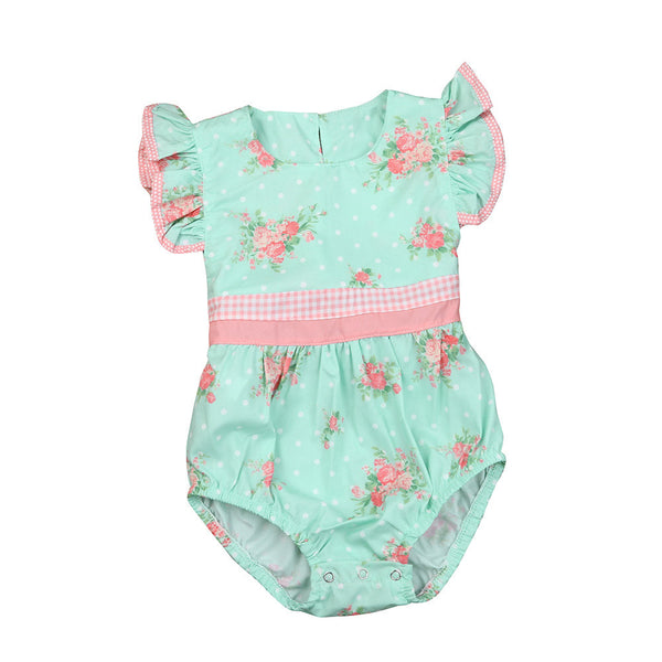 044b7e17f4bc75 2017 new Baby Girl Rompers Summer Girls Clothing Flower Rompers Newbor