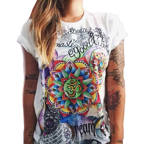 47420b0b Summer Punk 3D Printed Tshirt Women Tops Harajuku O-Neck T Shirt Plus Size  Women