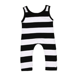 2017 Promotion Special Offer O-neck Newborn Infant Baby Boy Girl Cotton Sleeveless Striped Romper Jumpsuit Kids Clothes Outfit