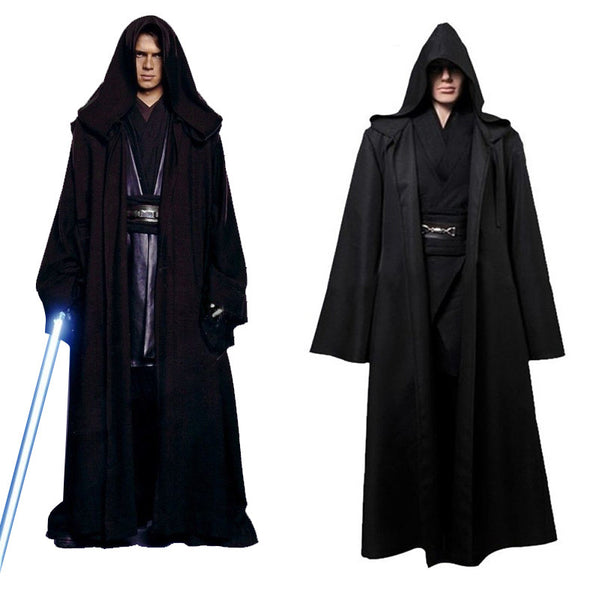 Takerlama Unisex Halloween Star Wars Jedi/Sith Knight Cloak Cosplay Adult/Kids Hooded Robe Cloak Cape Halloween Cosplay Costume
