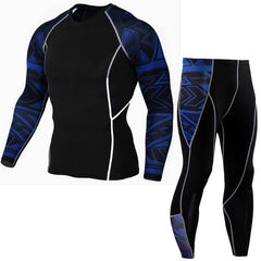 Men Long Johns Fitness Winter Quick Dry Gymming Spring Autumn Sporting Runs Workout Thermal Pro Compression Underwear Sets S0263