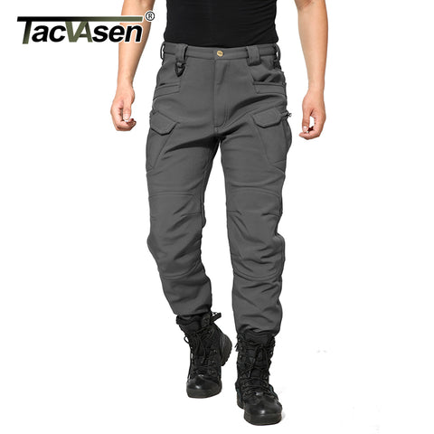 TACVASEN 2017 NEW Softshell Pants Men Military Tactical Pants Men Hunt Cargo Pants Male Waterproof Combat Trousers TD-YCXL-039