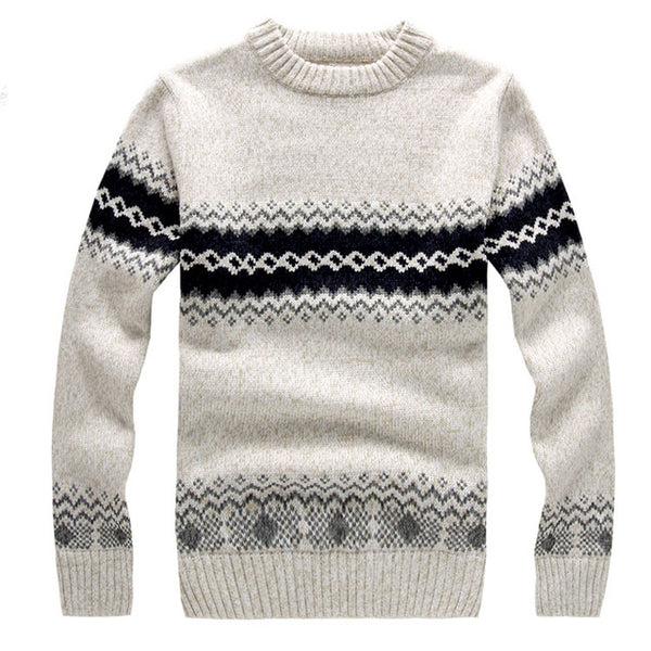 4cd00e2e0b3 New LetsKeep 2017 men's knitted sweater patterns Striped thick pullover  sweaters winter casual round neck wool sweater men,MA270