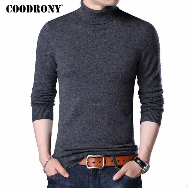 34222bb74170 COODRONY Merino Wool Sweater Men Casual Classic Turtleneck Pull Homme