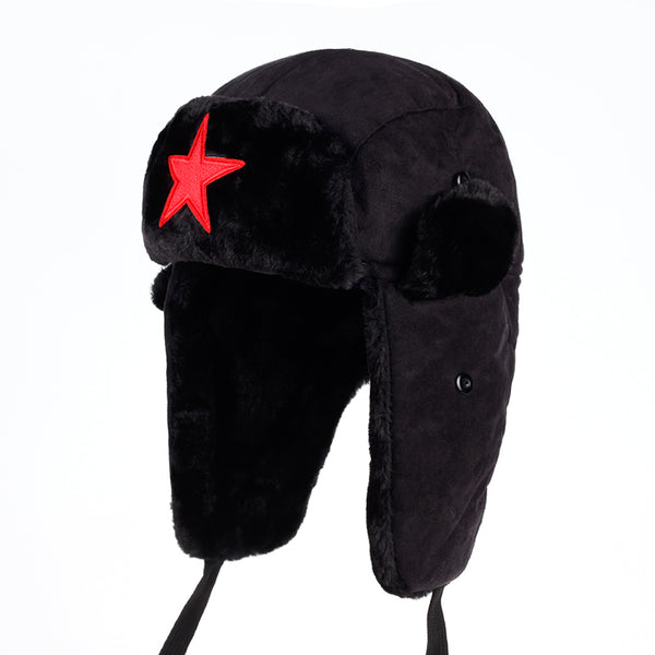 55f5abbfbcdf6 2017 New Women s or Mens star Bomber Hats Winter Russian Hat Outdoor W