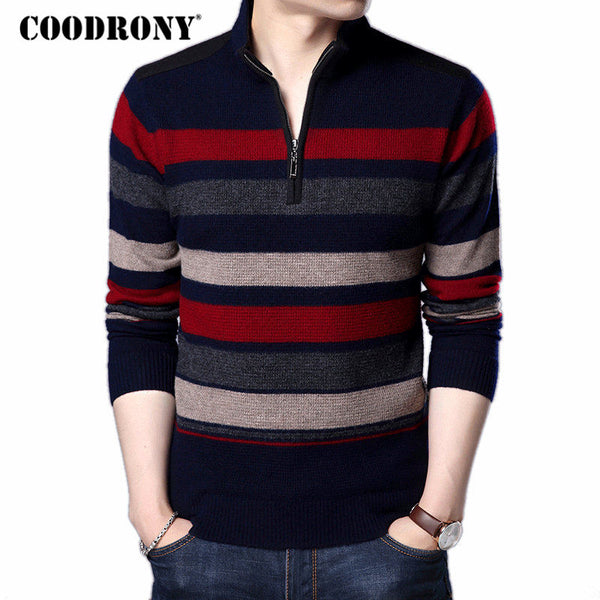 COODRONY Mens Sweaters And Pullovers Pure Merino Wool Sweater Men 2017 6373bfb43