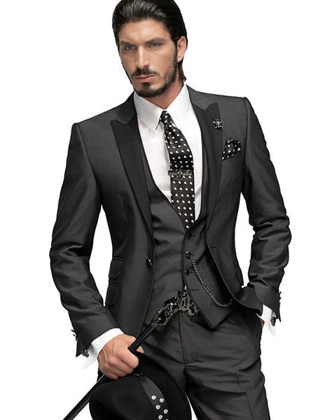 09d384776074 Product Image Hot Sale Custom made wedding suits 3 pieces Men suits Slim fit  Notched lapel Grooms wedding ...