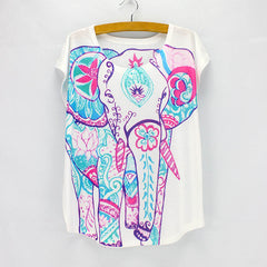 2016 New 3D printing t-shirt women summer tees ladies short sleeve top tees wholesale free shipping