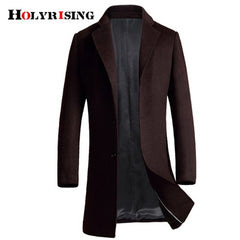 Classic Autumn Winter Casual Men Wool Coats Warm Jackets Slim Single Button Outwear Solid Overcoats 4 Style Choose Size M-3XL