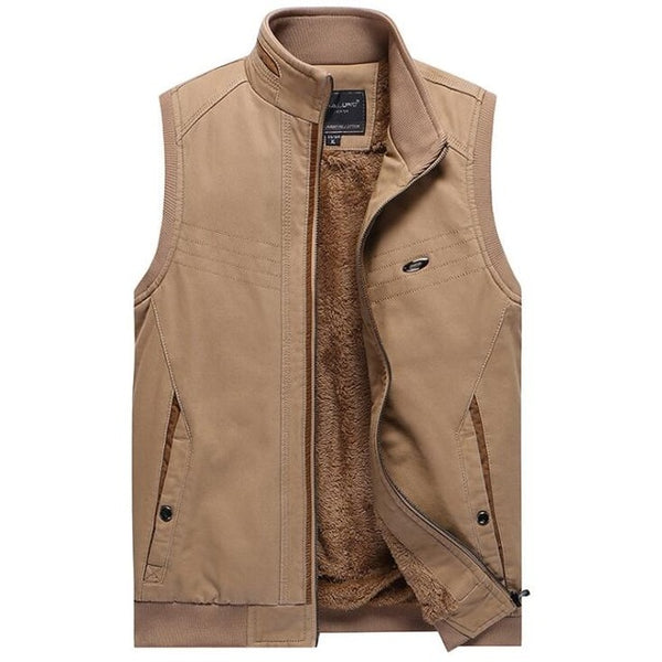 factory authentic excellent quality size 7 2017 Winter Fleece Vest Casual Men Waistcoat Cotton Sleeveless Jacket