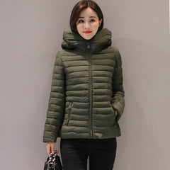 Big size 4XL 5XL stand collar short women winter basic jacket autumn solid jaqueta feminina inverno high quality womens coat