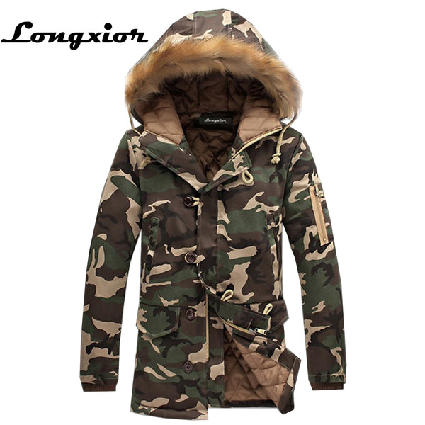 31bffd0b064 L16 Fashion Winter Jacket Men Camouflage Parkas Men Military Coats Mal
