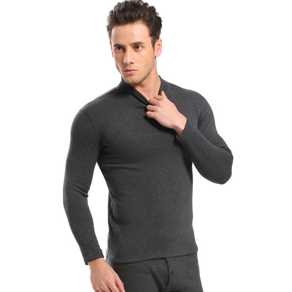 c8358e072b34 ... Hot Winter Warm Thicken Thermal Underwear Mens Long Johns Sexy Black  Thermal Underwear Sets Thick Plus ...