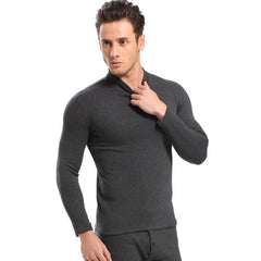 Hot Winter Warm Thicken Thermal Underwear Mens Long Johns Sexy Black Thermal Underwear Sets Thick Plus Velet Long Johns For Man