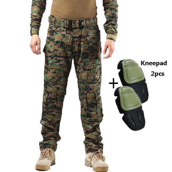 d121e3917d453 ... Tactical Pants Military Men Camouflage Cargo Pant Knee Pad SWAT Army  Airsoft Clothes Hunter Field Work ...
