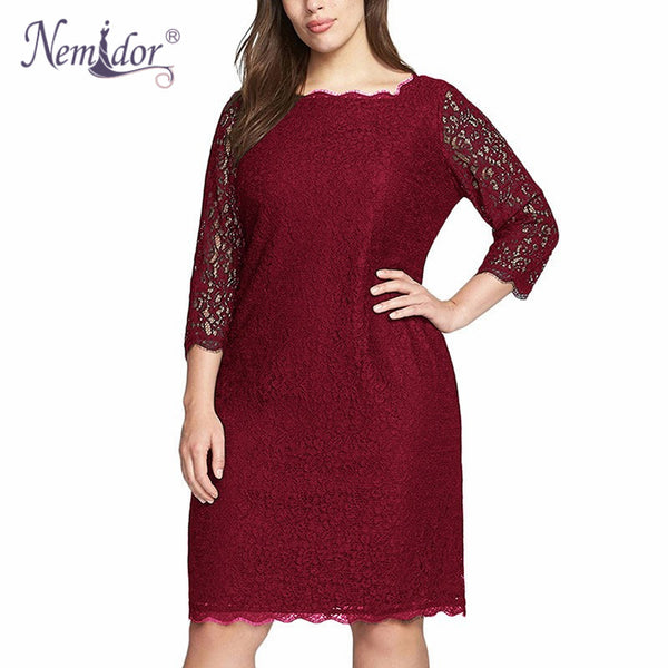 071f2747094 Nemidor Women Summer Elegant 3/4 Sleeve Retro Stretchy Knee Length Coc