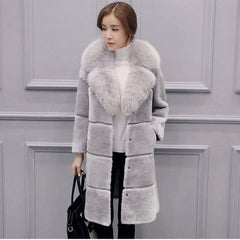 Faux Fur Long Coat female Artificial fur Long Coat Jacket Plus Size Faux Fur Women Outerwear Winter overcoat Women Vest Fur coat