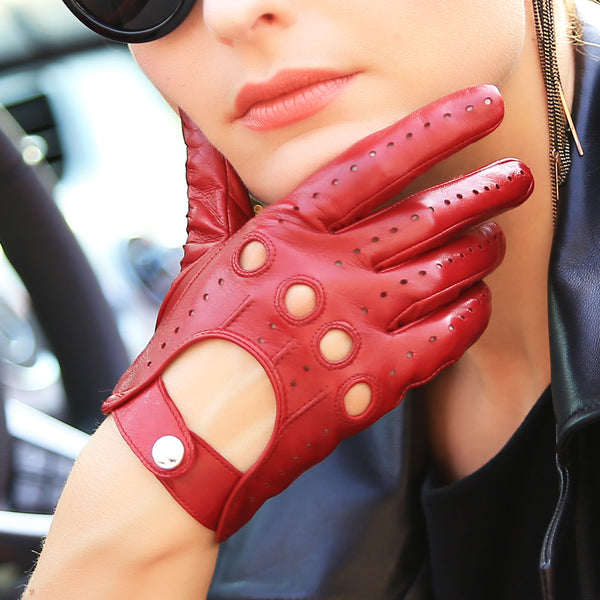 a514701a3 Genuine Leather Women Gloves Fashion Elegant Lady Sheepskin Glove Brea