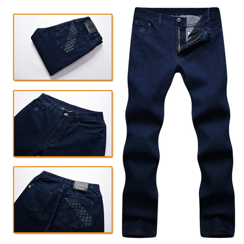 TACE&SHARK Billionaire jeans men 2017 winter new style fashion comfort cotton thick Business Casual high quality free shipping