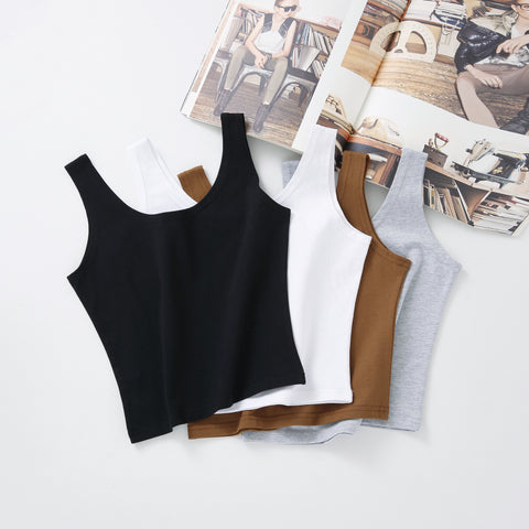 b04ccc76812c37 Hot 2017 New Women Sexy Cotton Crop Top Crop Bustier Multicolor Sleeveless  Cropped Blusas Vest Tank