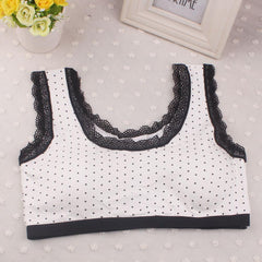 New Lovely Girls Lace Underwear Bra Vest Children Underclothes Sport Undies