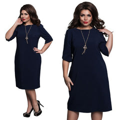 6XL Elegant Ladies Women Dress Fashion Sexy Party Plus Size Maxi Straight Dresses Casual Loose Large Sizes Slim Office Vestidos