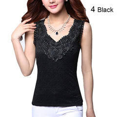 2018 Women Summer Tank Top 27 Colors S-3XL Lace Top Sleeveless Chiffon Modal Casual Tops Black White OL Female Clothing Blusas