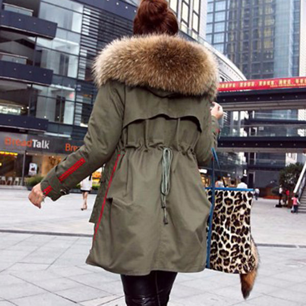 professional how to serch classic styles New 2018 Winter Jacket Women Coats Real Large Raccoon Fur Collar Female  Parka Army Green Thick Cotton Padded Lining Ladies #E972
