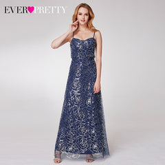 2018 New Arrival Sequin Long Bridesmaid Dresses Women's Cold Shoulder Sequin Spaghetti Straps Ruffles Party Dresses 07288
