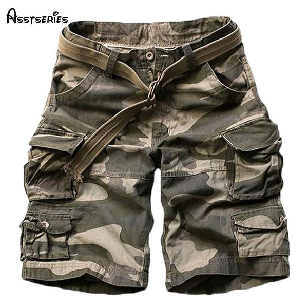 054658bd42 2018 New Summer mens casual army camo cargo shorts cotton Short pants